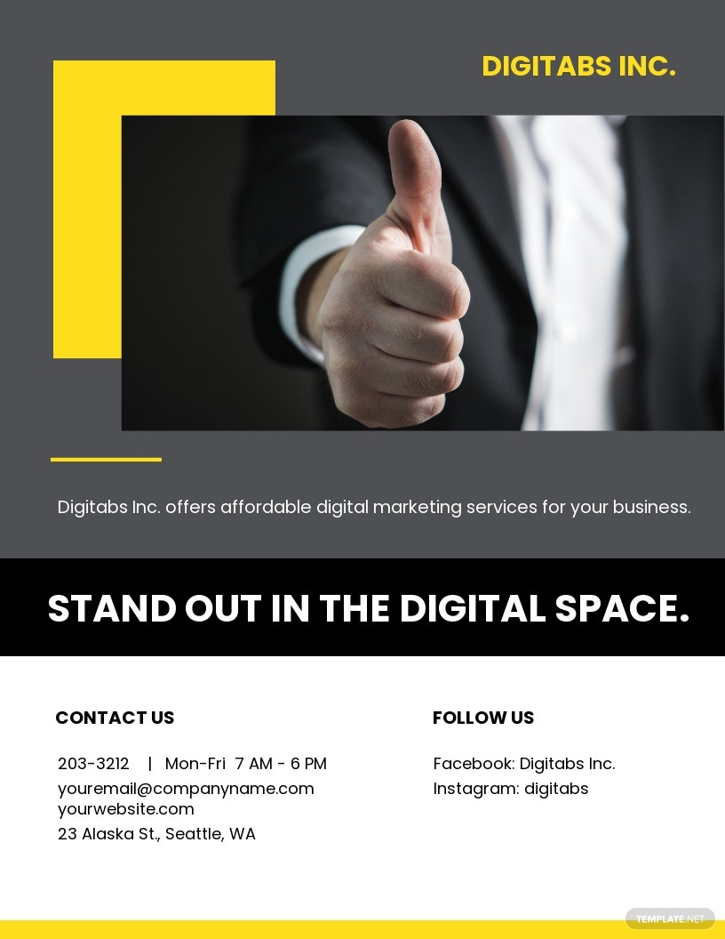 Company Annual Report Flyer Template