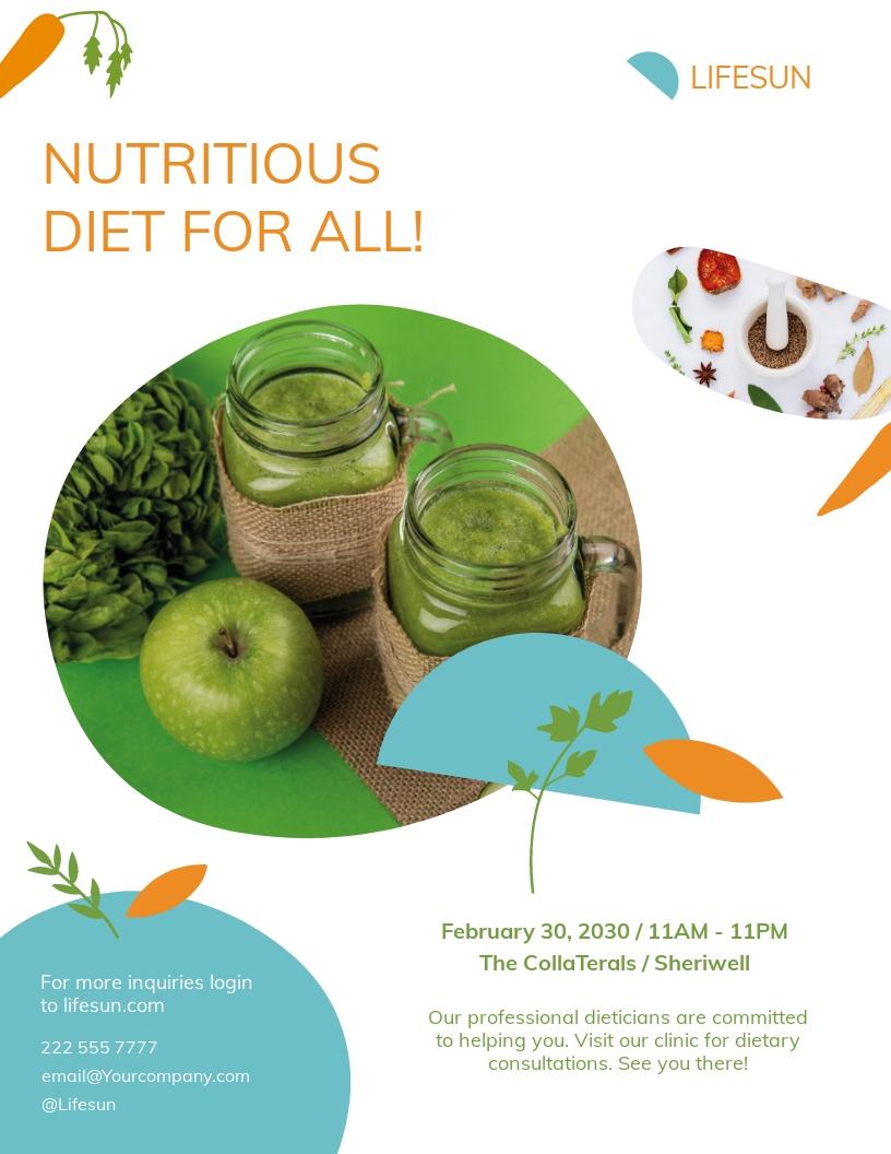 Dietitian Flyer Template