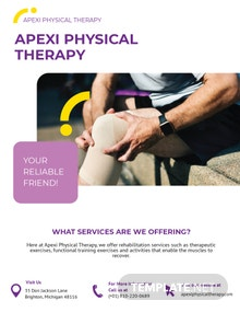Physical Therapy Flyer Template