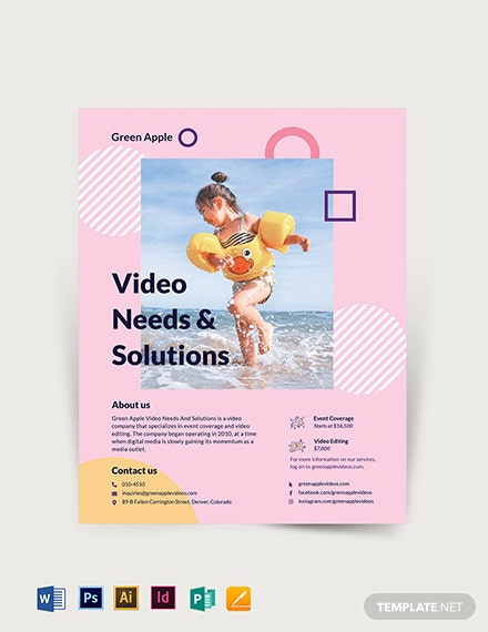 Video Flyer Template
