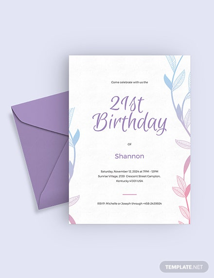 st Birthday Invitation Download