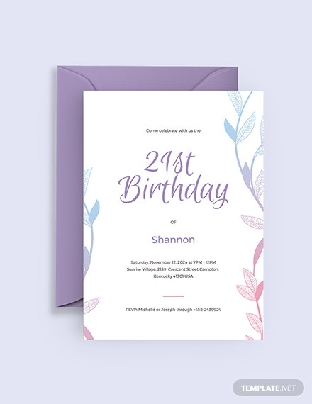 Sample st Birthday Invitation