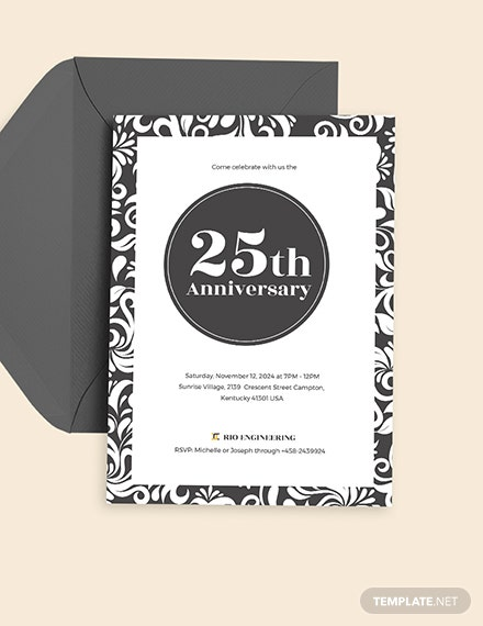 th Anniversary Invitation Download