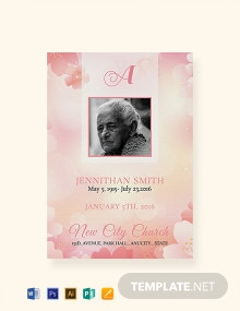 Free Water Color Funeral Thank You Card Template