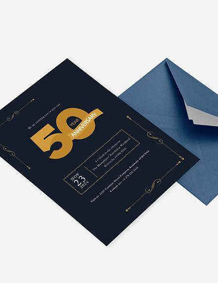 th Anniversary Invitation Download