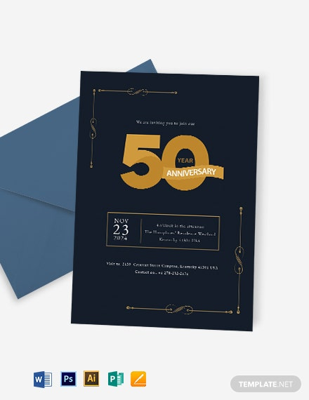 50th Anniversary Invitation Template