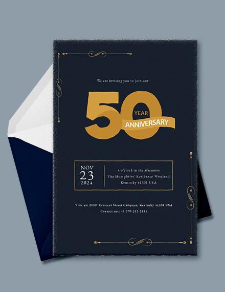 50th Anniversary Invitation Template