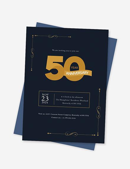 Sample th Anniversary Invitation
