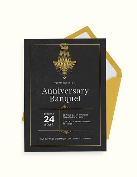 Banquet Invitation Download
