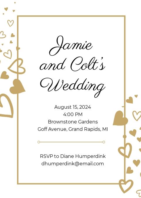 Confetti Wedding Invitation Template.jpe