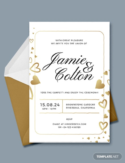 Confetti Wedding Invitation Template