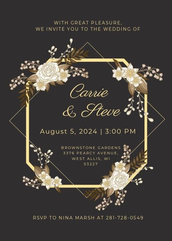 Gold Wedding Invitation Template.jpe