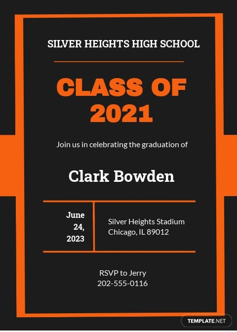 High School Graduation Invitation Template