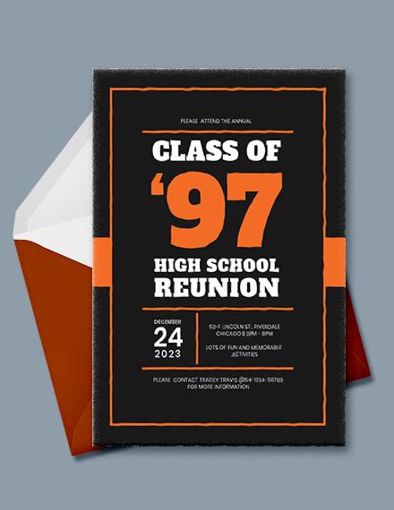 High School Graduation Invitation Template