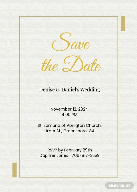 Save The Date Wedding Invitation Template