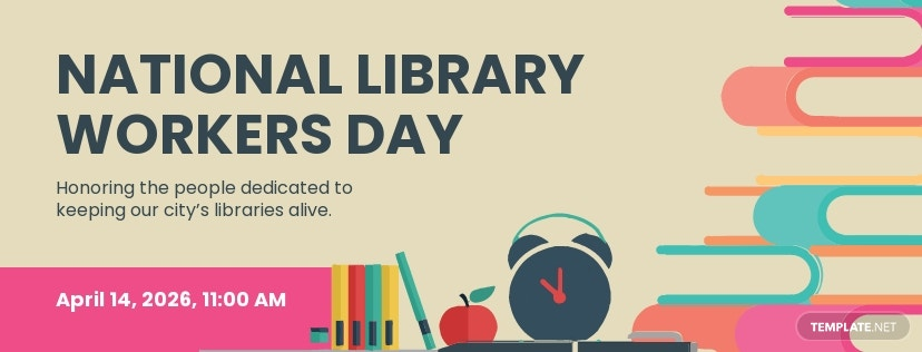 Free National Library Workers Day Facebook App Cover Template.jpe