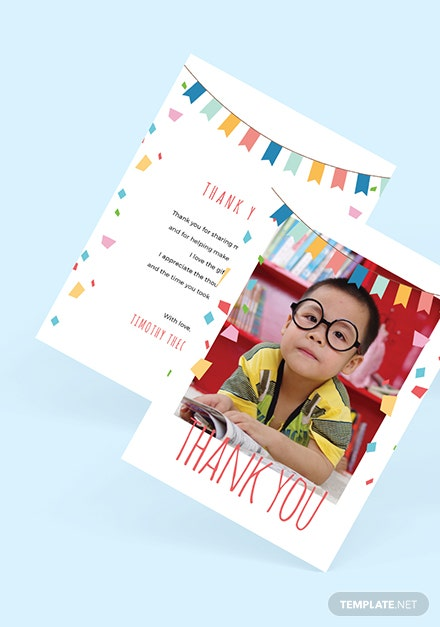 Birthday Photo Thank You Card Download