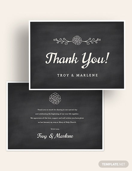 Chalkboard Thank You Card Download