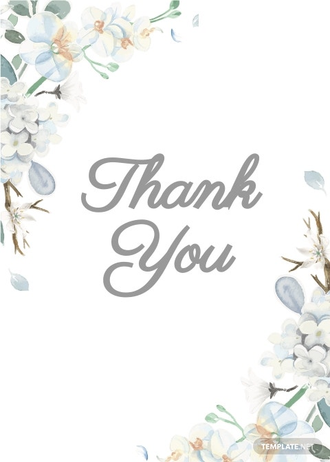 Condolence Thank You Card Template