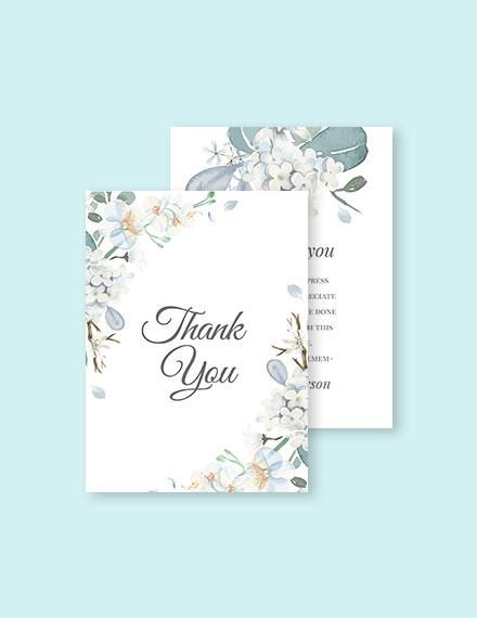 Condolence Thank You Card Template
