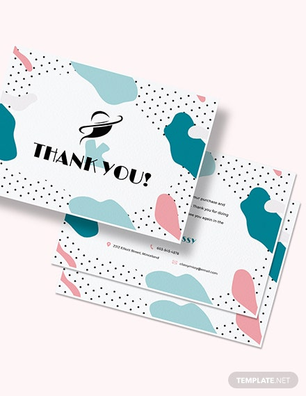 Fashion Business Thank You Card Download