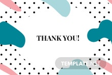 Fashion Business Thank You Card Template