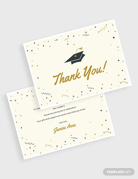 Graduation Thank You Card Download