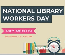 Free National Library Worker's Day Facebook Cover Template