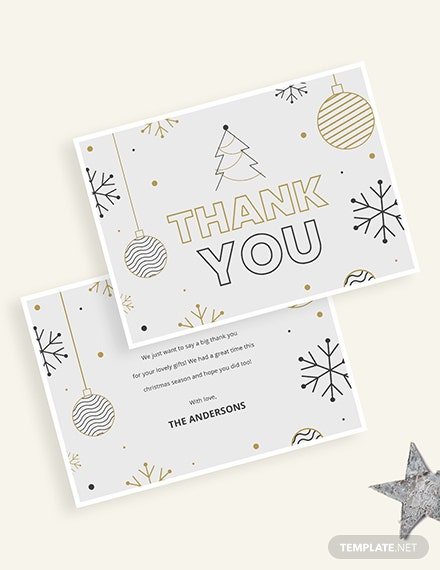Holiday Thank You Card Download