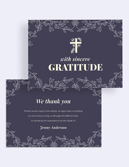 Memorial Thank You Card Download