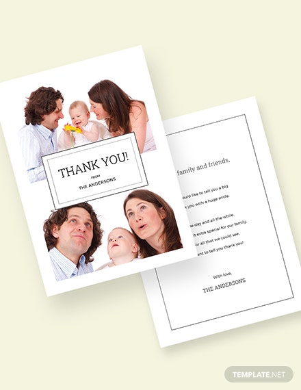 Photo Thank You Card Download
