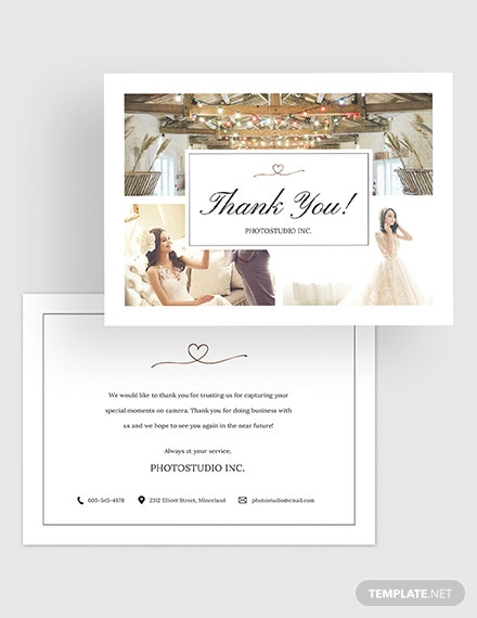 Photography Thank You Card Download