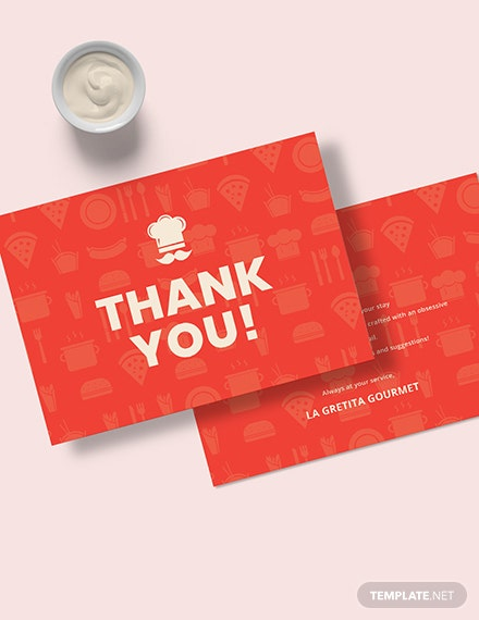 Restaurant Thank You Card Download