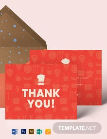 Restaurant Thank You Card Template
