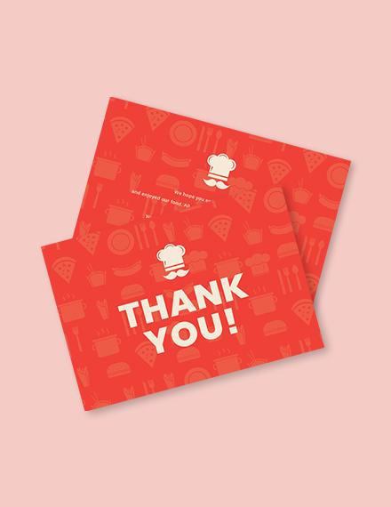 Restaurant Thank You Card Template