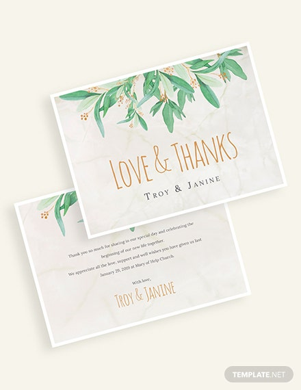 Rustic Floral Thank You Card Download