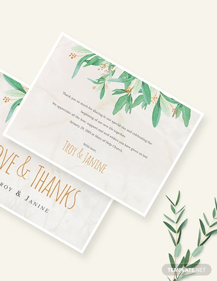 Sample Rustic Floral Thank You Card
