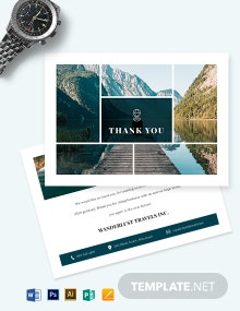 Travel Agency Thank You Card Template