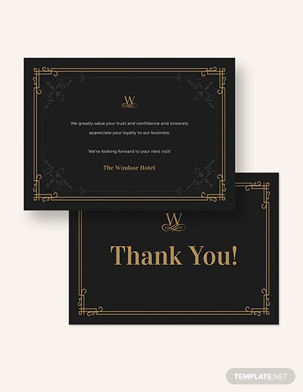 Sample Vintage Thank You Card