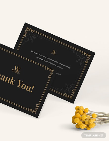 Vintage Thank You Card Download