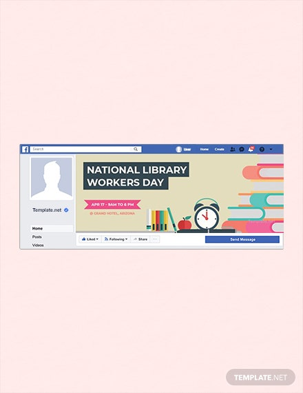Free National Library Workers Day Facebook Event Cover Template