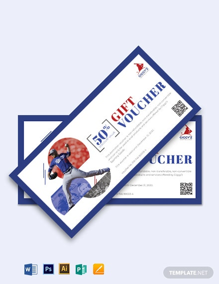Baseball Voucher Template