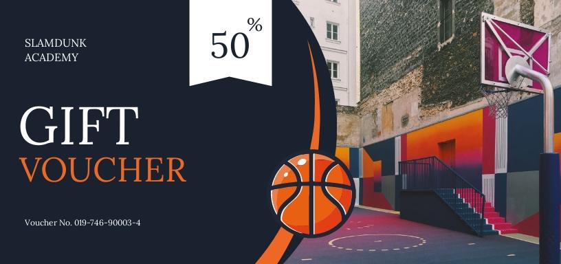Basketball Voucher Template