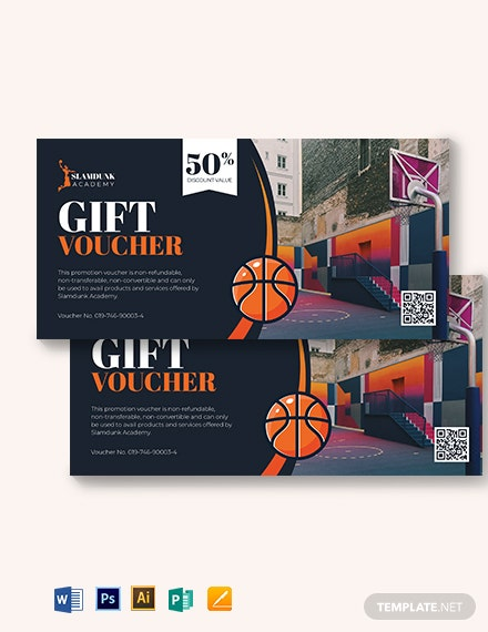 Basketball Voucher Template