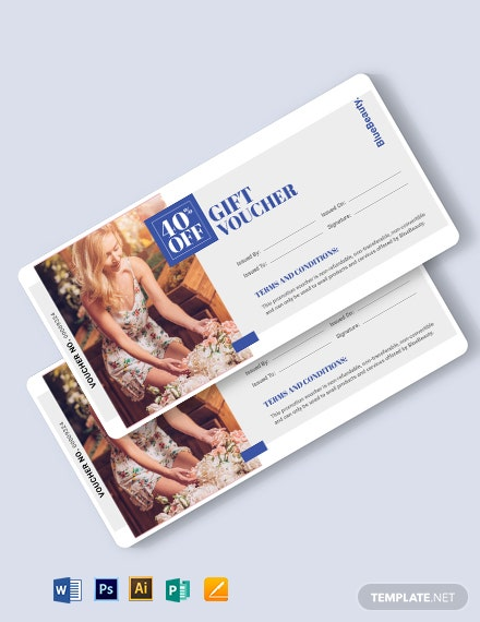 Beauty Book Voucher Template