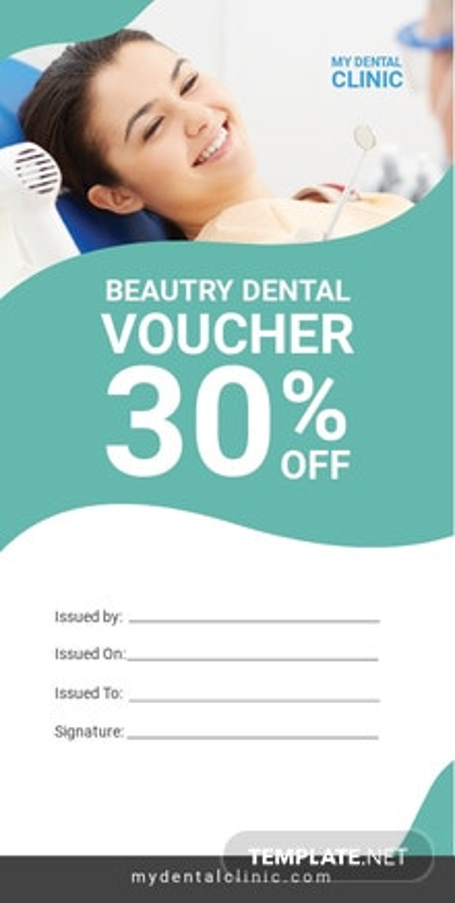 Beauty Dental Voucher Template