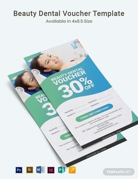 Beauty Dental Voucher Template