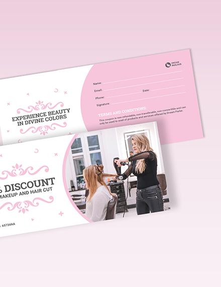 Beauty Parlour Voucher Download