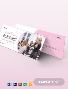 Beauty Parlour Voucher Template