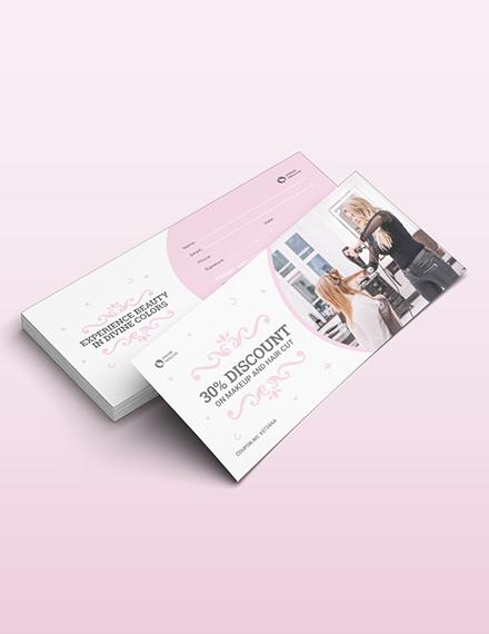 Sample Beauty Parlour Voucher